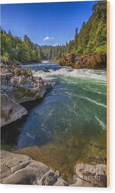 Umpqua River Wood Print