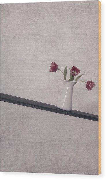 Unbalanced Flowers Wood Print