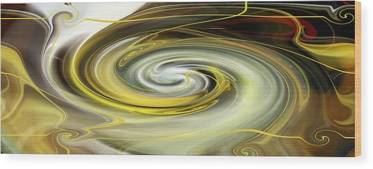 Wood Print featuring the digital art Unbarred Space Abstract by rd Erickson