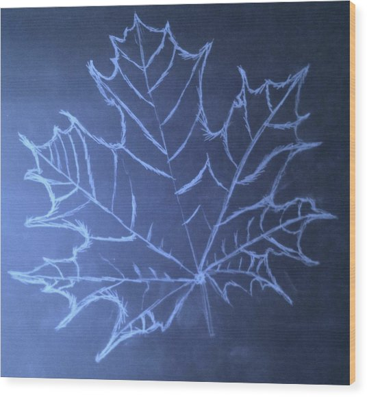 Uncertaintys Leaf Wood Print
