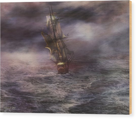 Uncharted Waters Wood Print