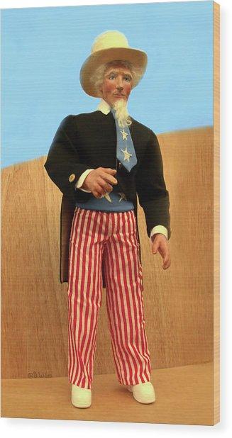 Uncle Sam Wood Print