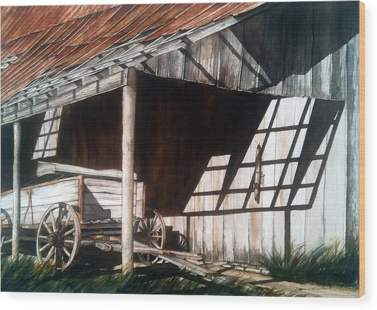 Uncle Seifs Wagon  Wood Print by Don F  Bradford