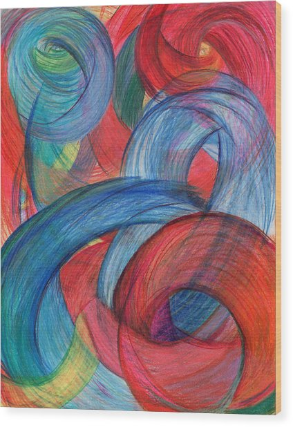 Uncovered Curves-vertical Wood Print
