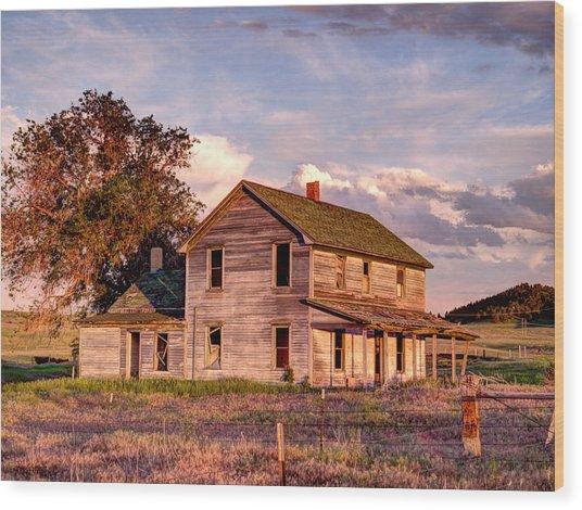 Under A Nebraska Sky Wood Print