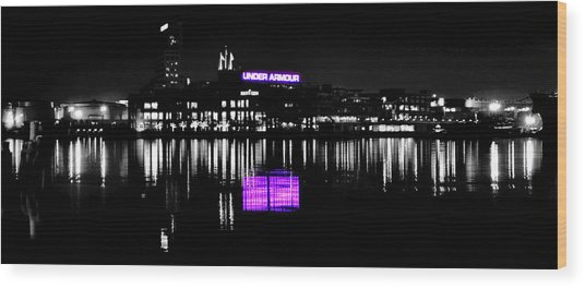 Under Amour At Night - Vibrant Color Splash Wood Print