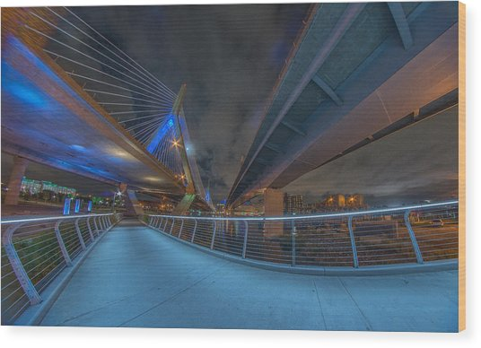 Under The Bridge Downtown Wood Print