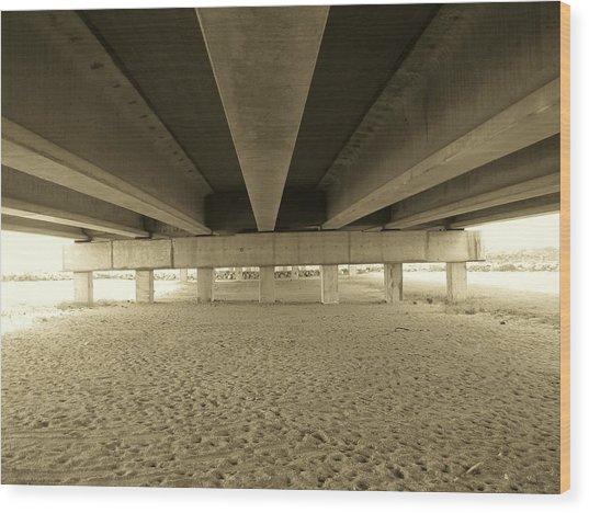 Under The Bridge Wood Print by Joanne Askew