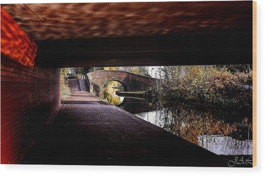 Under The Bridge Wood Print by Lina Jordaan