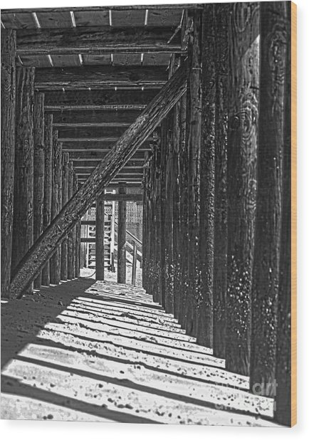 Under The Deck Wood Print