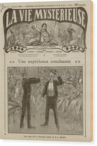 Under The Influence Of A Hypnotist Wood Print