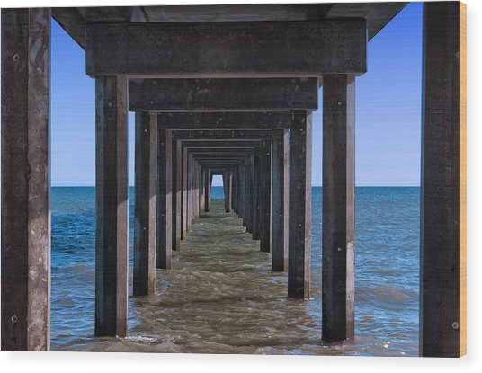 Under The Jetty Wood Print