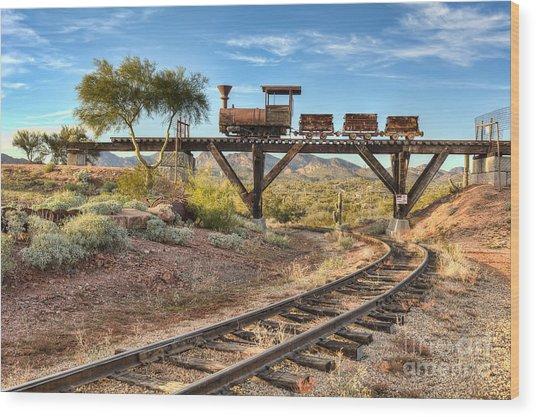 Under The Mining Cars Wood Print by Eddie Yerkish