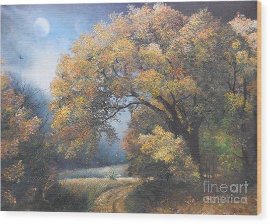 Under The Moonlight  Wood Print