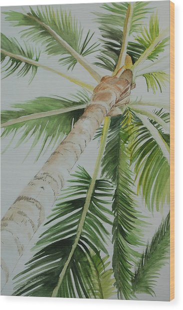 Under The Palm Wood Print