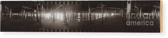 Under The Pier Wood Print by Ron Smith