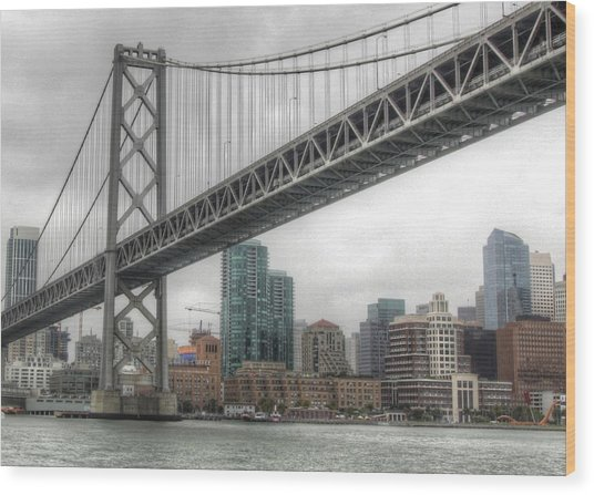 Under The San Francisco Bay Bridge Wood Print