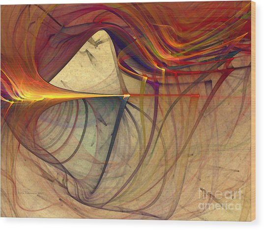 Under The Skin-abstract Art Wood Print