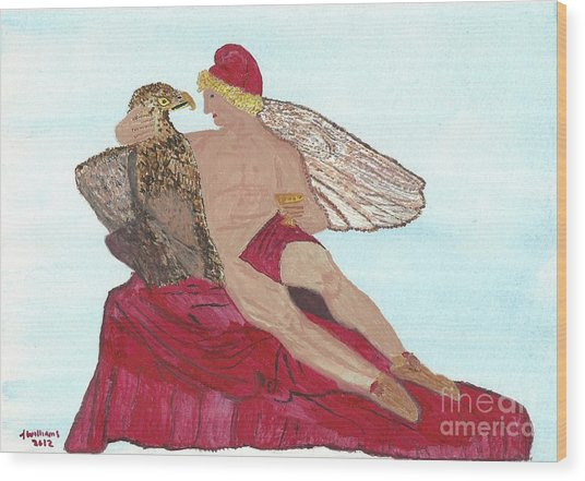 Under The Wings Of Love Wood Print