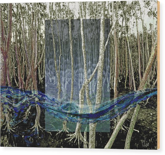 Undercurrent Wood Print by Maria Jesus Hernandez