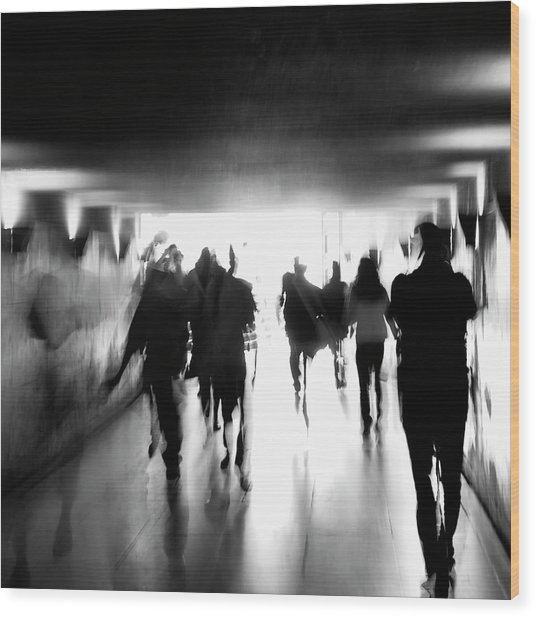 Underground Pathway Wood Print