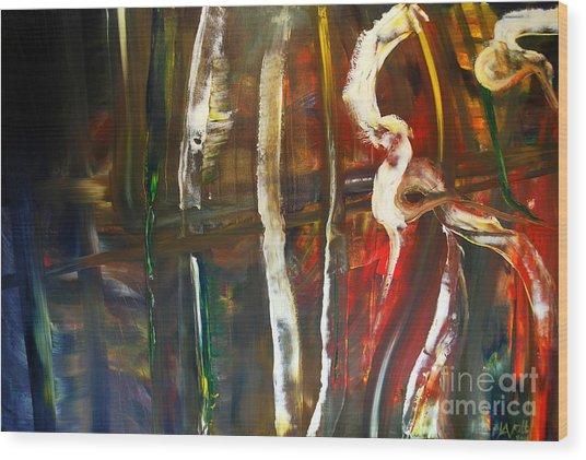 Undergrowth Iv Wood Print