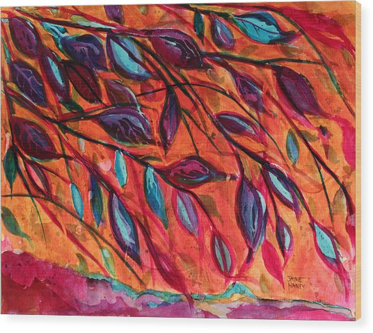 Underneath Wood Print