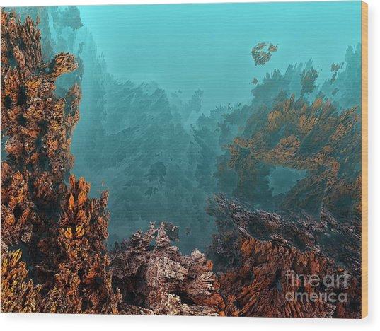 Underwater 6 Wood Print by Bernard MICHEL
