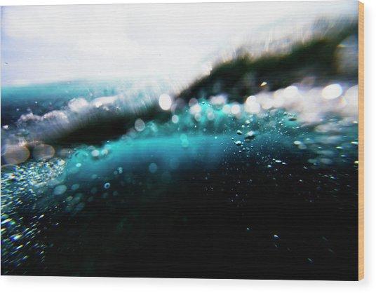 Underwater Bubbles Wood Print