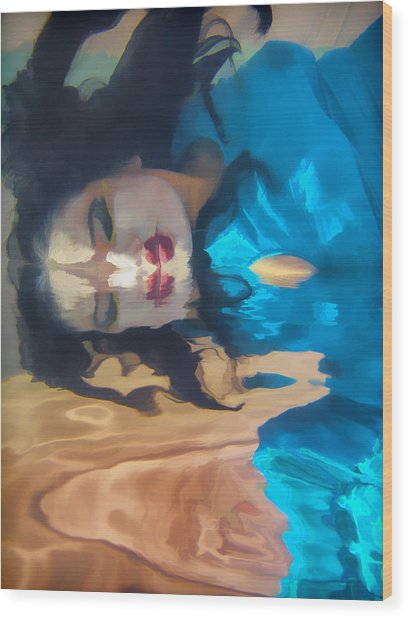 Underwater Geisha Abstract 1 Wood Print