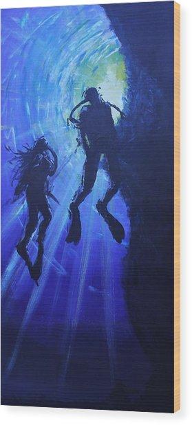 Underwater Lovers Wood Print by Morphd Mohawk