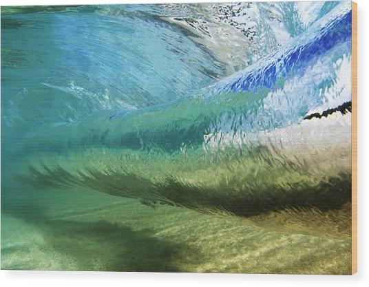 Underwater Wave Curl Wood Print