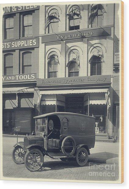 Underwood Typewriter Factory Wood Print