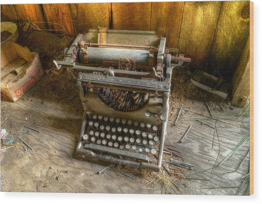 Underwood Typewriter No. 5 Wood Print