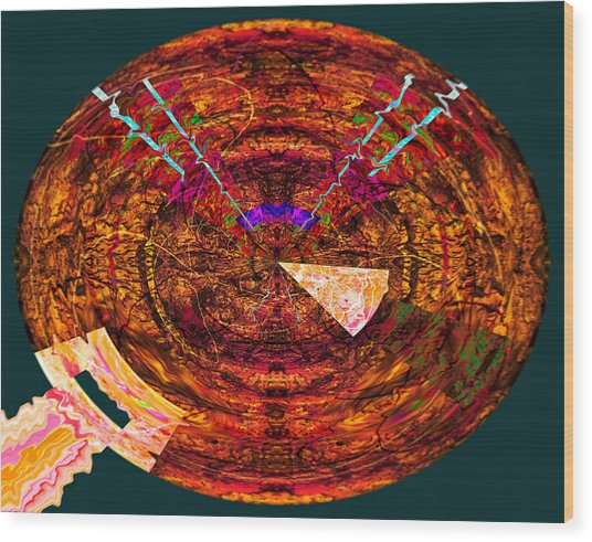 Undoing Orb 2014 Wood Print by James Warren