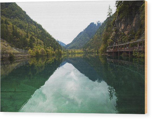 Unesco Landscpe Photostories Of Tibet Jiuzhaigou Wood Print by Sundeep Bhardwaj Kullu sundeepkulluDOTcom