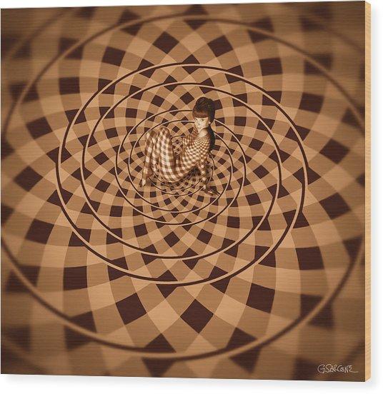 Unexpected Vortex Of Love Wood Print