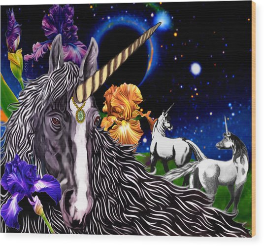 Unicorn Dream Wood Print