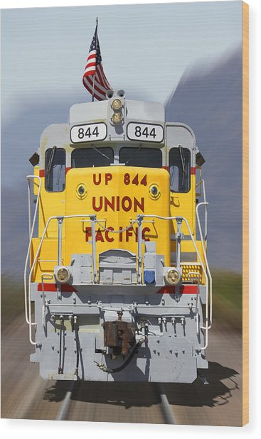 Union Pacific 844 On The Move Wood Print