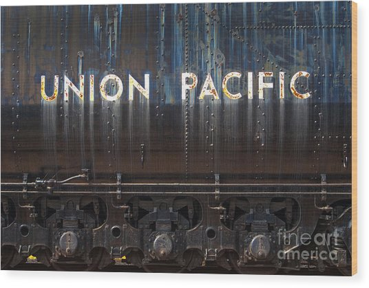 Union Pacific - Big Boy Tender Wood Print