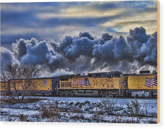 Union Pacific Train Wood Print