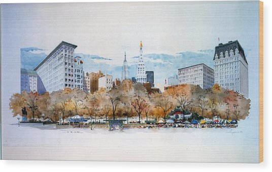 Union Square Nyc Wood Print