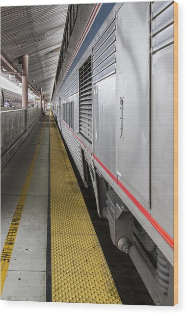 Union Station Amtrak Platform Wood Print