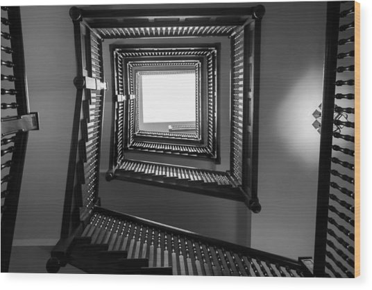 Union Station Hotel Stairway Wood Print
