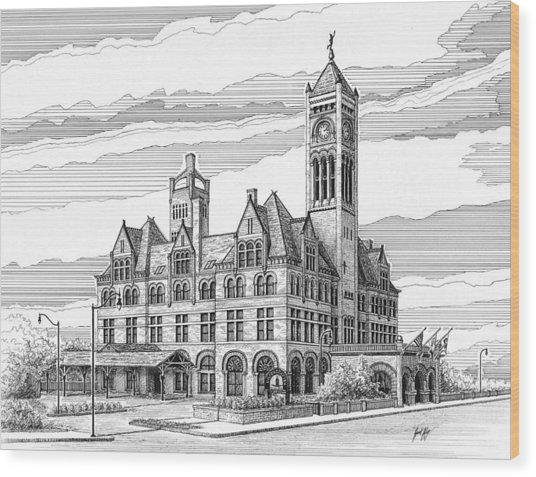 Union Station In Nashville Tn Wood Print