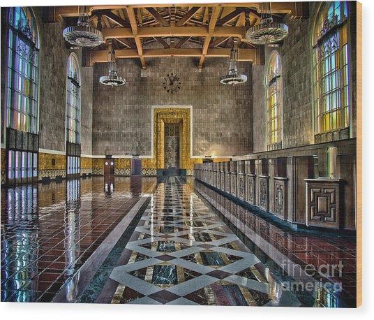 Union Station Interior- Los Angeles Wood Print