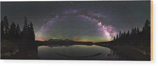 Unitas Milky Way Wood Print by Andrew Fritz