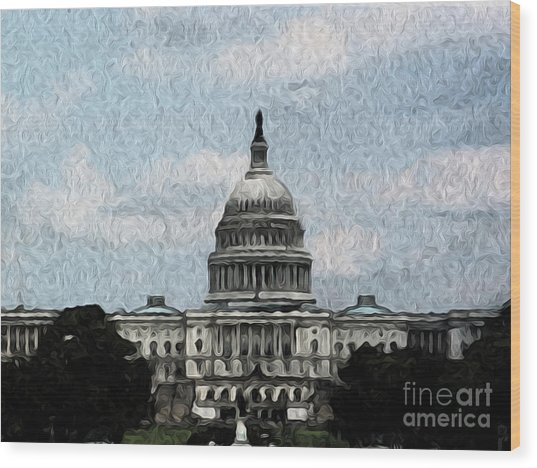 United State Capitol Wood Print