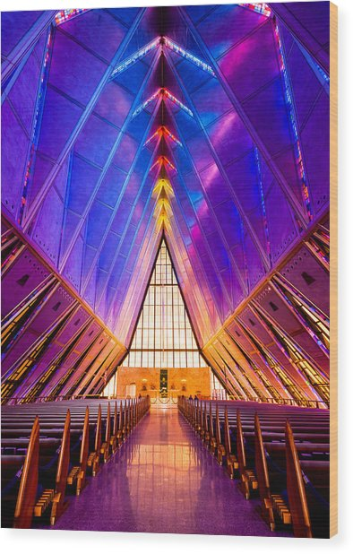 United States Air Force Academy Protestant Cadet Chapel Wood Print
