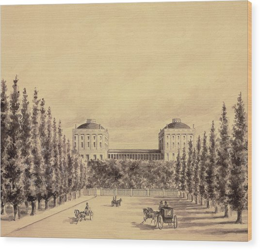 United States Capitol From Pennsylvania Avenue Wood Print